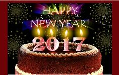 New Year 2017 Greeting On Cake