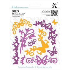 Xcut Butterfly Flourish Dies 10 Pieces | Hobbycraft
