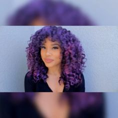 Wanted this purple hair color for so long, but I was not going to bleach to get it. Itsmyrayray used Jerome Russell B Wild to get this hair color. I'm totally trying this out!