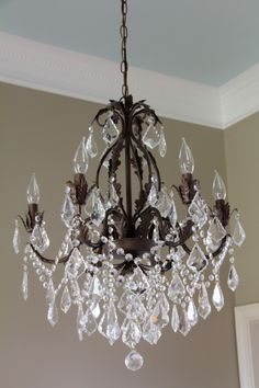 How Can I Have The Beauty Of This And Functionality A Ceiling Fan In ChandelierDining Room