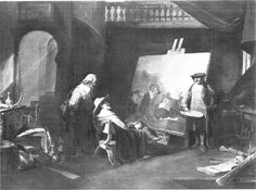 Abraham van Pelt, Rembrandt toont aan zijn bezoek De Staalmeesters, ca. 1850, KMSK