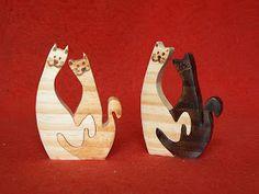 Artesanato Paraty - Artesanato em madeira: Mini peças gatos 03 5cm X 6m R$ 6,5