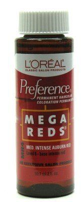 LOreal Preference  MR4 Mega RedMedium Intense Auburn Red Case of 6 *** To view further for this item, visit the image link.
