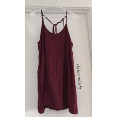 Brandy Melville super cute Maroon Dress Super cute, great condition. Ties in the back of the neck. Prefer ️️ Brandy Melville Dresses