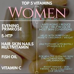 The Best List of Vitamins for Women. Top 5 Vitamins daily supplements. #selfcare #girltips | Tips for girls