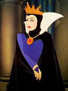 Fashion Inspiration: Disney Villains - The Evil Queen cf previous Joan Crawford picture.