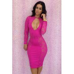 USD13.49 Sexy O neck Long Sleeve Sheath Mini Dresses