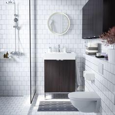 LILLÅNGEN bovenkast   #IKEA #IKEAnl #inspiratie #wooninspiratie #badkamer #klein #fijn #tegel #bruin #wit