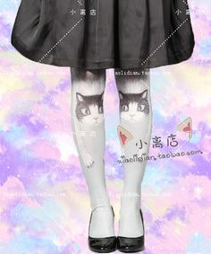e77901d42ef38a [Collection] Both Harajuku High Socks the cat mummy bandages crotch  pantyhose child - Taobao