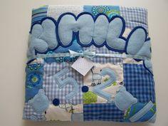 *Diese süße, kuschelige Babydecke im Patchworkstil ist das ganz besondere Geschenk für die werdende Mama oder auch für Sie selbst.*   Handgefertigt, mit viel Liebe...