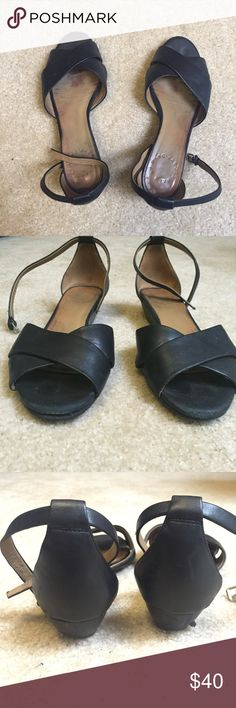 Marc Jacobs Demi Wedge Sandals Worn, as shown in picture. Well loved, very comfortable. Size 6, true to size. Marc Jacobs Shoes Sandals