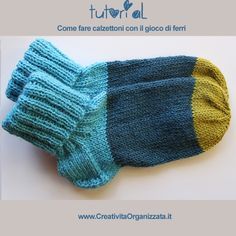 How to make socks with knitting needles (www.) Filati E Maglieria Knitting Projects, Knitting Patterns, How To Make Socks, Crochet Baby, Knit Crochet, Patchwork Tutorial, Crochet Slippers, Diy Projects To Try, Knitting Needles