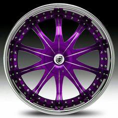 Purple car accessories purple rims for cars, rims, tires и a The Purple, Shades Of Purple, All Things Purple, Purple Cars, Purple Stuff, Pink Rims, Black Rims, Rims For Cars, Rims And Tires