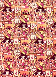 LSD Pattern illustration for an article about drugs and their effects by Juan Díaz-Faes