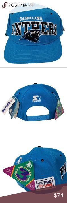 128e976f101 Vintage Carolina Panthers Starter Hat Cap Wool NWT Vintage Carolina  Panthers Starter Pro Line Tri-