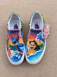 Vans Shoes, Sneakers, Old Skool & Skate Shoes Disney Painted Shoes, Disney Shoes, Vans Disney, Custom Vans Shoes, Custom Painted Shoes, Painted Vans, Vans Shoes For Sale, Hype Shoes, Me Too Shoes
