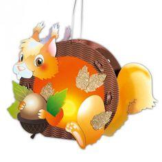 Laternen-Set Eichhörnchen - idee. Online-Shop Laterne basteln, DIY, selbst gemacht, Inspiration, Kinderlaterne