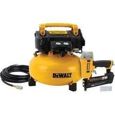 Tyler - DeWalt DWC1KIT-B 18-Gauge Brad Nailer and Pancake Compressor Combo Kit