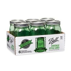 Ball® Vintage Collection Mouth Quart Canning Jars in Green (Set of 6) - BedBathandBeyond.com