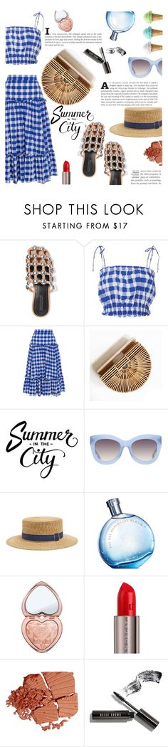 """""""Hot days in the city"""" by swweetalexutza ❤ liked on Polyvore featuring Alexander Wang, MDS Stripes, Alice + Olivia, Filù Hats, Hermès, Too Faced Cosmetics, Urban Decay, Bobbi Brown Cosmetics, summerbreak and citydays"""