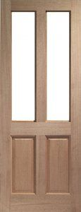 Hardwood Malton Ready to Glaze - Mortice & Tenon with Tyne etched patterned toughened double glazing, £339.95