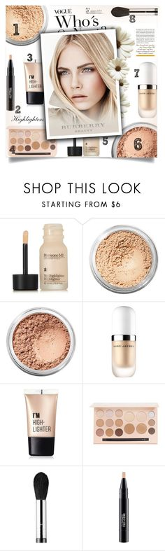 """""""Highlighters ❤"""" by allaboutno ❤ liked on Polyvore featuring beauty, Perricone MD, Bare Escentuals, Marc Jacobs, Charlotte Russe, Burberry, Sigma and MAC Cosmetics"""