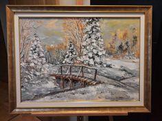 Chiar dacă vremea de afară nu ne convinge, încă este iarnă ... în calendare. Zăpada nu prea ne acoperă, frigu-i cumințel, trece și februarie, și s-a dus iernuța asta. Așa, de dragul ei, mai punem un tablou, de sezon. E măricel, cam 75x95 cm ;) Mai, Painting, Painting Art, Paintings, Painted Canvas, Drawings