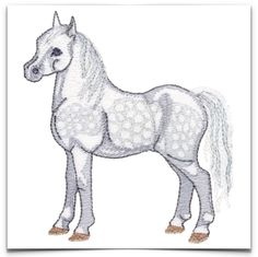 Free Embroidery Design: Horse