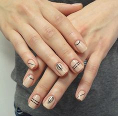 Best of the Best for Spring Nail Design - Art Modern Nude Nails, Nail Manicure, Acrylic Nails, Nail Polish, Jamberry Nails, Simple Nail Art Designs, Nail Designs Spring, Aztec Nails, Chevron Nails