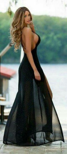 Sexy black prom dress 2016
