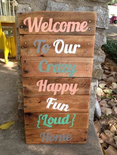 Hey, I found this really awesome Etsy listing at https://www.etsy.com/listing/166677932/welcome-to-our-crazy-home-recycled