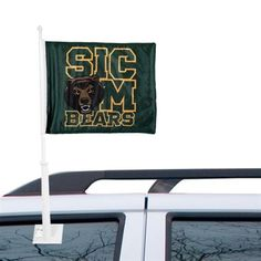 Green Baylor Bears Sic Em Logo Car Flag // Owning a pair of these is basically a requirement of any die-hard Bears fan. #SicEm