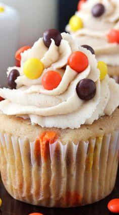 Triple Peanut Butter Cupcakes Recipe   Life, Love, and Sugar