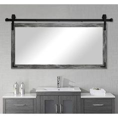 Nicholle Rustic Bathroom/Vanity Mirror Display classic craftsmanship with this Bathroom/Vanity Mirror. This mirror would be the perfect addition to any decor, from minimalist to rustic. Country Bathroom Mirrors, Rustic Bathroom Vanities, Bathroom Red, Rustic Bathrooms, Bathroom Ideas, Bathroom Plants, Lodge Bathroom, Victorian Bathroom, Bathroom Showers
