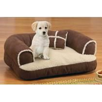 Warm Cozy Dog Sofa Bed with Pillow 23 34 L x 18 14 W -- Continue to the product at the image link. Couch Pet Bed, Pet Beds, Dog Supplies, Fur Babies, Creations, Pillows, Dogs, Image Link, Brown Suede