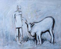 Ramana Maharshi puts a Cow in Samadhihttp://www.lawoftime.org/noos-letter/artist-alex-sandro-carletti.html www.alexcarletti.tumblr.com
