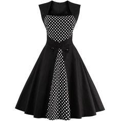 #Order 1950'S #RETRO #POLKA DOT DRESS (M3834347) Online at #best price from #Corset Dresskart.  #Buy now:- http://www.corsetdresskart.com/Dresses/1950's-Retro-Polka-Dot-Dress--M3834347