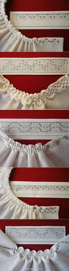Sewing tutorials clothes dress costura ideas for 2019 Smocking Patterns, Sewing Patterns, Smocking Tutorial, Knitting Patterns, Crochet Patterns, Stitch Patterns, Dress Patterns, Shirt Tutorial, Fashion Patterns