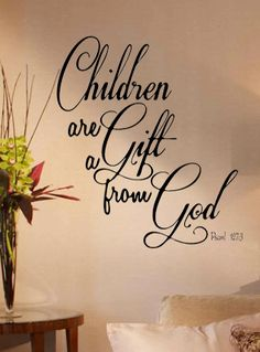 Children Gift God Decal Vinyl Lettering Quote Wall Home Decor Family Bible Psaml | eBay