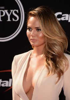 Model Christine Teigen attends The 2014 ESPYS at Nokia Theatre L.A. Live on July 16, 2014 in Los Angeles, California.