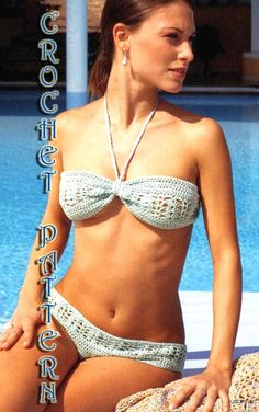 Woman Crochet Bikini set  Pattern only with written instruction and charts in PDF files. on Etsy, $4.99