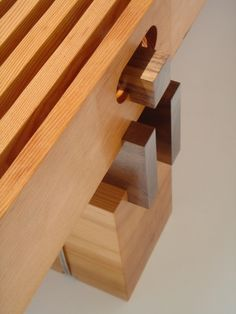 Edward Pine Stevens Fir & Walnut Bench.