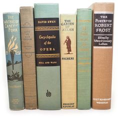 Antique Beige Turquoise Book Collection, Robert Frost, Opie Read,... ($48) ❤ liked on Polyvore featuring home, home decor, aqua home decor, neutral home decor, aqua home accessories, turquoise home accessories and turquoise home decor