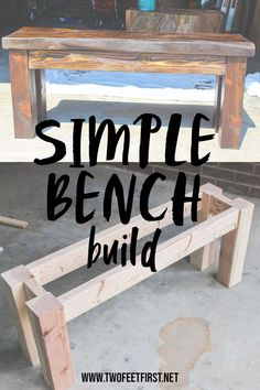 DIY Wood Bench Are you looking for a simple way to build a cheap wooden bench? Here is a DIY tutorial on how to build a wood bench using a Kreg Jig.
