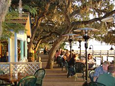 Favorite summer afternoon? Caps on the Water St. Augustine, FL - apps, sun and adult beverages.