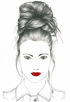 Up-Do [Red Lips] I used to do this hairstyle all the time when my hair ...