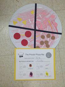 First Grade Teacher Lady: Fraction Pizza