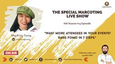 Want More Attendees in your Events? Raise FOMO in 7 Steps with host of the The Special Marcoting Live Show - Marco Novo Live Show, Live Events, Raising, The Creator