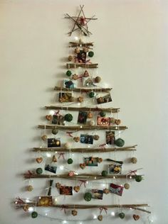 42 Christmas tree ideas from log and branches | My desired home