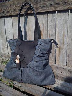 Richter / Riflová taška s koženkou